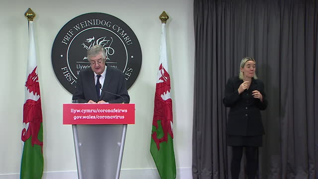 presser mark drakeford, first minister of wales, announces package of financial assistance to help tourism, leisure and hospitality businesses during... - politics stock videos & royalty-free footage