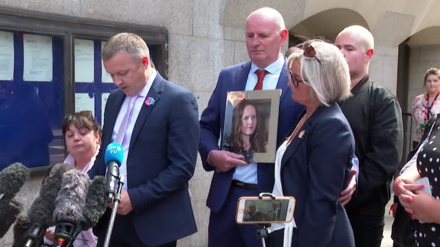 presser mark rutherford father of chloe rutherford killed in the 2017 manchester arena terror attack speaks outside old bailey after the brother of... - justice concept stock videos & royalty-free footage