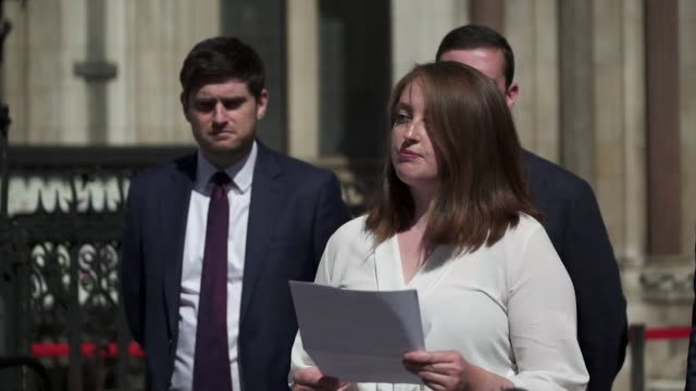 presser martha robinson, former labour party staff, after her and colleagues received apology and damages over the way their complaints of... - colleague stock videos & royalty-free footage