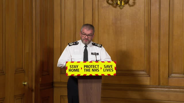 "presser martin hewitt, national police chiefs' council, about enforcing coronavirus lockdown rules ""our staged enforcement approach remains but we... - rules stock videos & royalty-free footage"