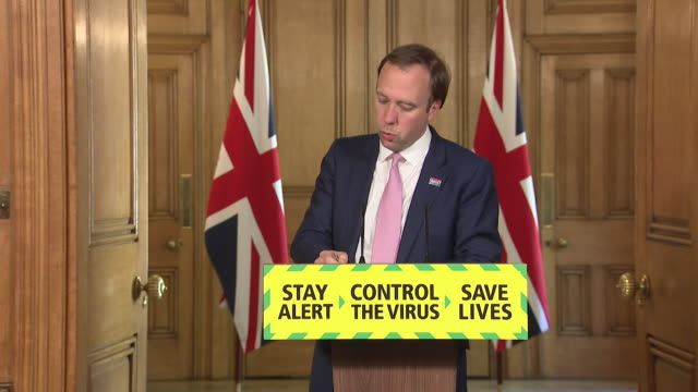 """presser matt hancock mp, health secretary about coronavirus contact tracing system """"we have more capacity than we need, this is a good thing"""" - contact tracing stock videos & royalty-free footage"""