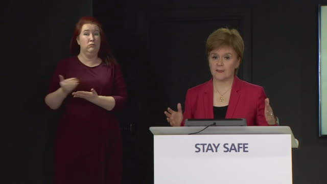presser nicola sturgeon first minister of scotland about aberdeen local coronavirus lockdown we need to act quickly and decisively if we are to... - edinburgh scotland stock videos & royalty-free footage