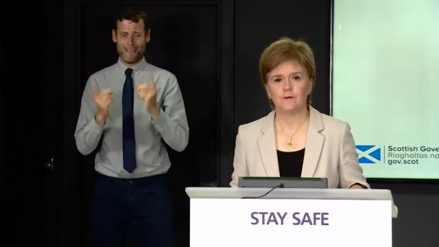 presser nicola sturgeon, first minister of scotland, sends condolences to familes of those involved and killed in the train crash near stonehaven,... - sending stock videos & royalty-free footage