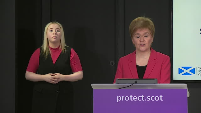 presser nicola sturgeon, first minister of scotland, strengthens advice for mixing over christmas period in scotland during coronavirus pandemic - mixing stock videos & royalty-free footage