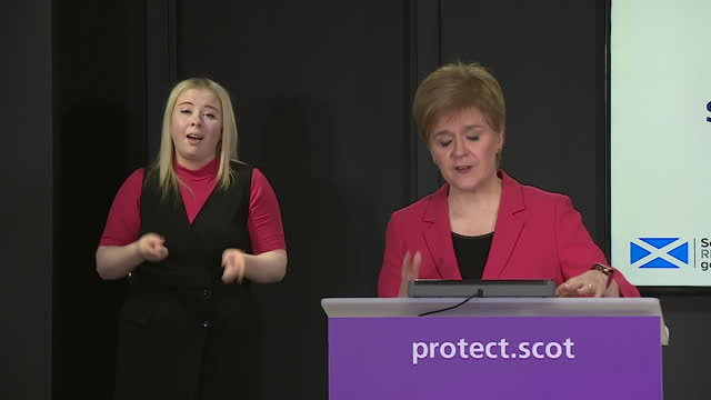 """presser nicola sturgeon, first minister of scotland, urging caution over households mixing at christmas due to coronavirus pandemic """"the reality is,... - mixing stock videos & royalty-free footage"""