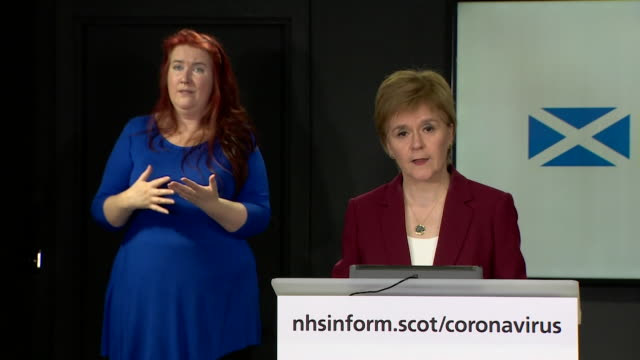 presser nicola sturgeon msp about not coming out of coronavirus lockdown yet i believe to drop the stay at home message could be a potentially... - emergence stock videos & royalty-free footage