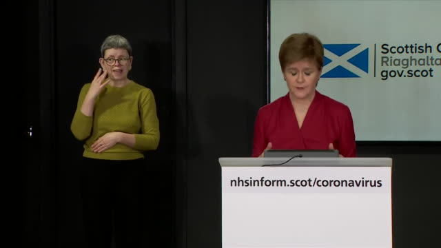 presser nicola sturgeon msp, first minister of scotland, about increasing coronavirus testing in care homes - flatten the curve stock videos & royalty-free footage
