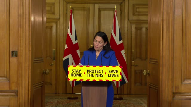 "presser priti patel, home secretary, about the coronavirus lockdown rules ""the rules are actually very simple and clear"" - rules stock videos & royalty-free footage"