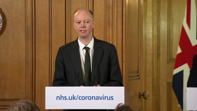 presser professor chris whitty chief medical advisor at coronavirus update if the nhs gets overwhelmed then people will die from indirect deaths... - press room stock videos & royalty-free footage