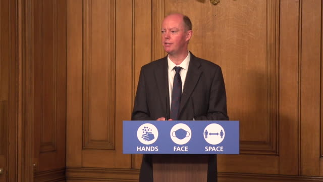 presser professor chris whitty, chief medical officer england, about the new rule of 6 coronavirus measures not being a short term thing - guidance stock videos & royalty-free footage