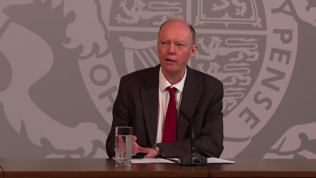 """presser professor chris whitty chief medical officer for england on how everyone is responsible to stop spreading coronavirus you cannot take your... - """"bbc news"""" stock videos & royalty-free footage"""