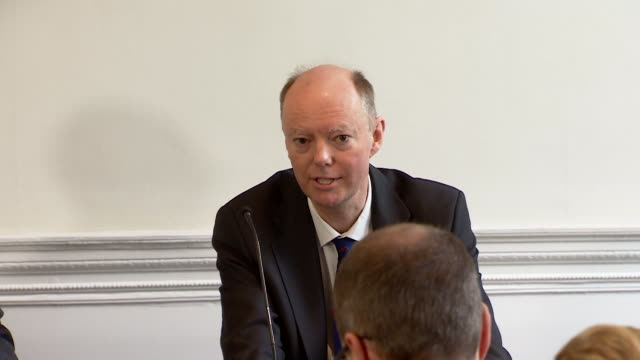 presser professor chris whitty, chief medical officer for england about the negative consequences of social distancing - mental health stock videos & royalty-free footage