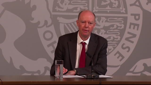 """presser professor chris whitty uk government chief medical officer about rising coronavirus cases if we do not do enough the virus will take off and... - """"bbc news"""" stock videos & royalty-free footage"""
