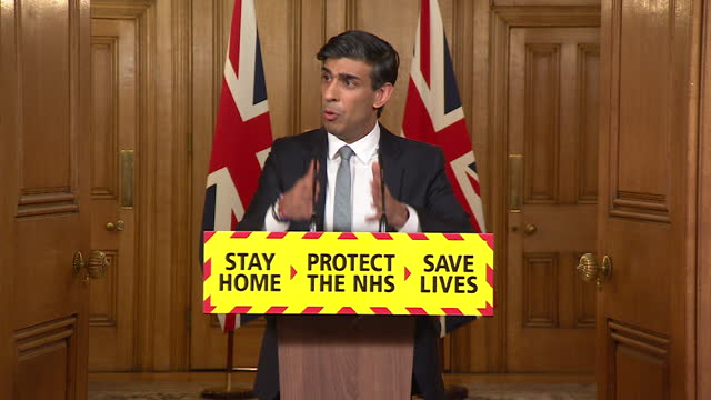 presser rishi sunak, chancellor of the exchequer, about the 2021 budget and how public finances have been affected by the coronavirus pandemic - finance stock videos & royalty-free footage