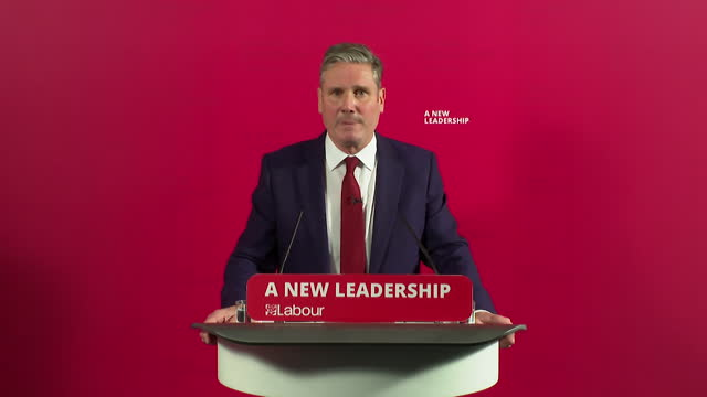 """presser sir keir starmer, labour leader, about report that found anti-semitism in the labour party """"it is a day of shame for the labour party"""" - keir starmer stock videos & royalty-free footage"""