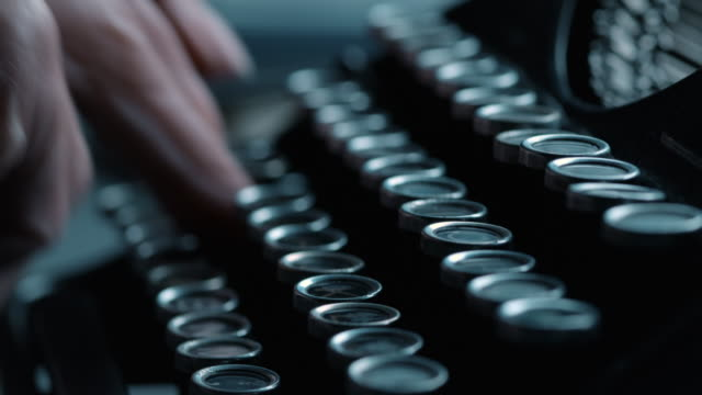 ld pressing the old typewriters keys fast - typewriter stock videos & royalty-free footage