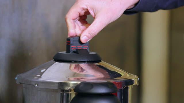 Pressure cooker indicator stem.