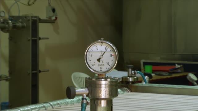 MS ZI Pressure gauge in brewery, Wau, South Sudan