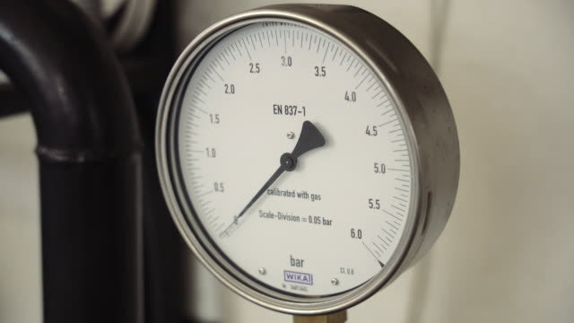 pressure gauges suspended and ready for installation - machine valve stock videos & royalty-free footage