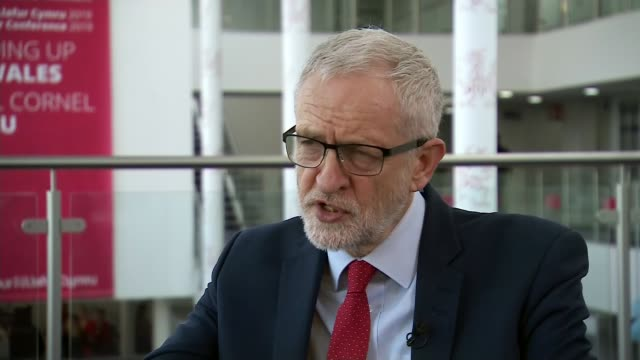 Pressure mounting on the government to ensure Julian Assange is extradited to Sweden WALES Llandudno INT Jeremy Corbyn MP interview SOT