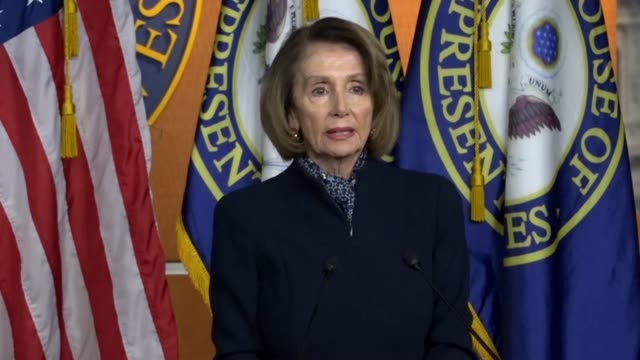 presumptive house speaker nancy pelosi of california asks a reporter at a lame duck session weekly briefing about questions of whether allegations... - lowering stock videos & royalty-free footage