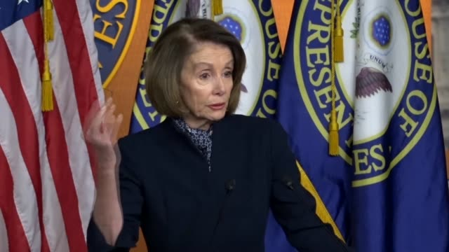 presumptive house speaker nancy pelosi of california tells reporters at a lame duck session weekly briefing that republicans did not have the votes... - disegno di legge video stock e b–roll