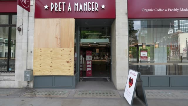 pret a manger opens with social distancing measure in place as restrictions are eased 7 weeks after the uk government imposed a lockdown on march 19... - food and drink stock videos & royalty-free footage