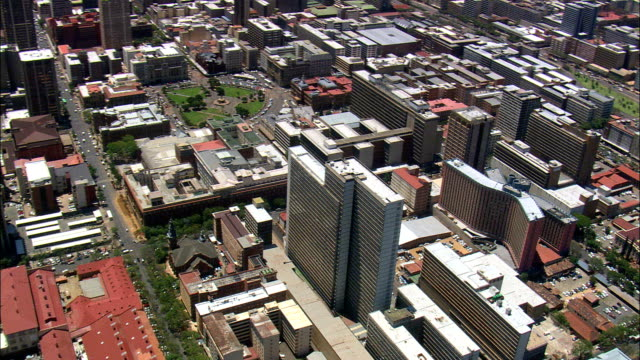 pretoria city centre  - aerial view - gauteng,  city of tshwane metropolitan municipality,  city of tshwane,  south africa - pretoria stock videos & royalty-free footage