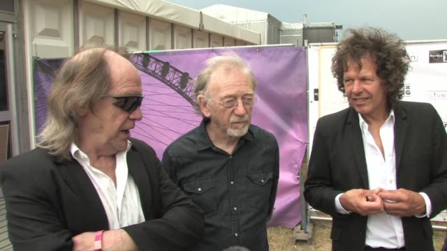 pretty things - phil may, dick taylor and frank holland on michael jackson at the hard rock calling at london england. - phil jackson stock videos & royalty-free footage