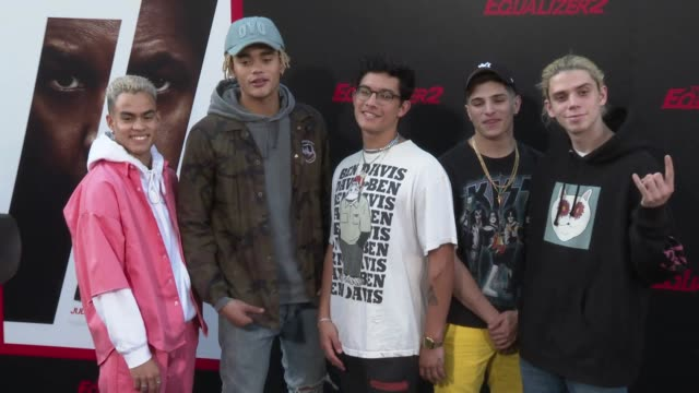PrettyMuch at the 'The Equalizer 2' Premiere at TCL Chinese Theatre on July 17 2018 in Hollywood California