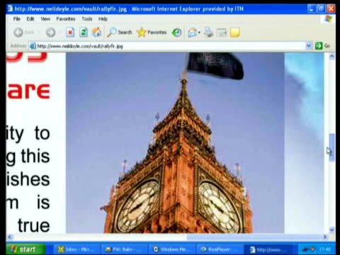 prevention of terrorism bill: new government proposals; england: london: int computer screen showing extremist muslim website - terrorismo video stock e b–roll