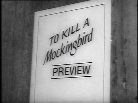 preview for the film to kill a mockingbird at the director's guild of america attending are author harper lee producer alan j pakula vince edwards... - gregory peck stock videos and b-roll footage