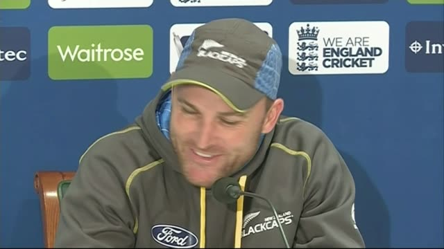 preview of england new zealand first test match at lords england london lord's cricket ground int brendon mccullum press conference sot cold 10... - lords cricket ground stock videos and b-roll footage