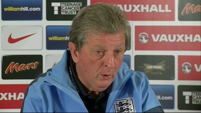 preview of england v germany international friendly match roy hodgson press conference sot roy hodgson on pitch with england players - international match stock videos & royalty-free footage