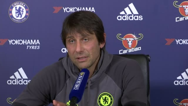 preview of premier league matches preview of premier league matches surrey cobham antonio conte press conference sot there are 14 games to play there... - コブハム点の映像素材/bロール