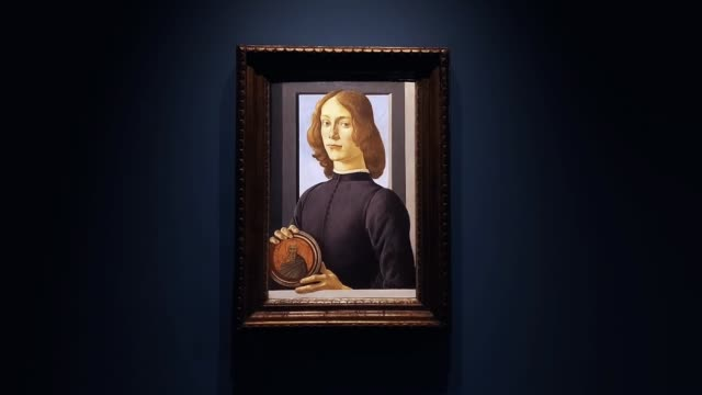 NY: Sotheby's NY Preview Of Sandro Botticelli's Portrait Of A Young Man Holding A Roundel
