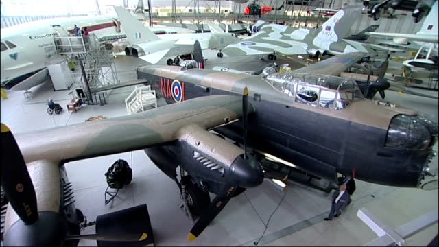 preview of unveiling of bomber command war memorial in london england cambridgeshire duxford imperial war museum int two bomber command veterans sam... - lancaster bomber stock videos & royalty-free footage