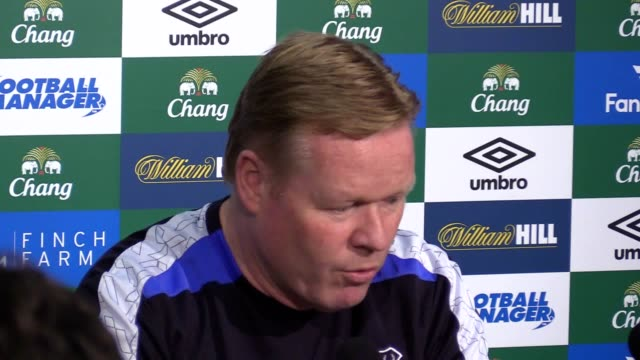 Preview press conference with Everton manager Ronald Koeman ahead of their Premier League match against Chelsea