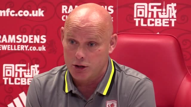 preview press conference with middlesbrough head coach steve agnew ahead of saturday's premier league fixture against southampton - middlesbrough stock videos and b-roll footage