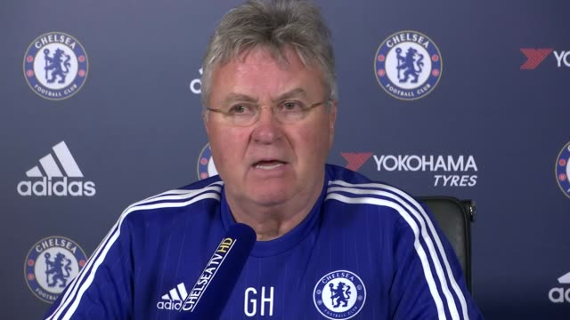 previews of premier league matches featuring london clubs surrey cobham guus hiddink press conference sot [on diego costa] i talked to him and we... - コブハム点の映像素材/bロール