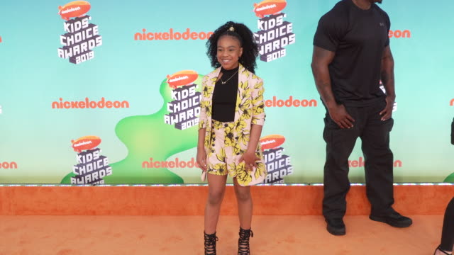 priah ferguson at the nickelodeon's 2019 kids' choice awards at galen center on march 23, 2019 in los angeles, california. - nickelodeon stock videos & royalty-free footage