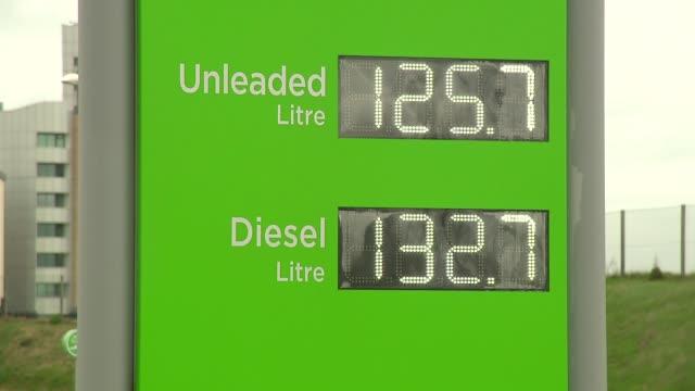 prices on petrol station - english language stock videos & royalty-free footage
