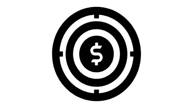 vídeos de stock e filmes b-roll de pricing & revenue management line drawing & ink splatter reveal animation with alpha - preço