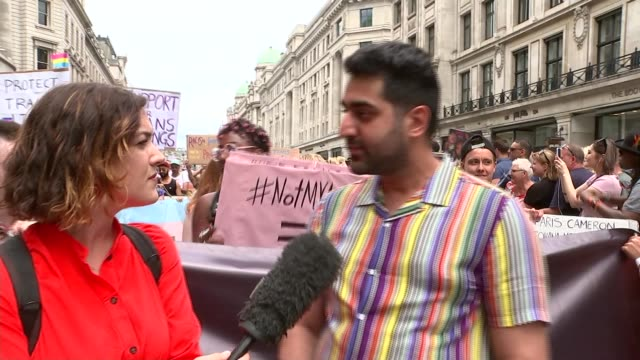 pride in london parade 2019 london uk various shots of gay pride 2019 hamza jahanzeb interview roger pomeroy interview mohammed nazir uddin interview... - semi dress stock videos & royalty-free footage