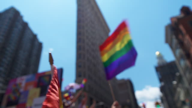 pride march - worldpride nyc 2019 on june 30, 2019 in new york city. - gay rights stock videos & royalty-free footage