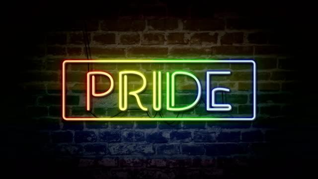 vidéos et rushes de fierté au néon - trans