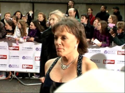 Arrivals and interviews Esther Rantzen arriving as Carol Vorderman passes behind