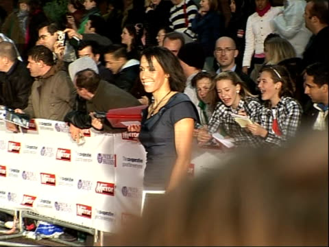 Arrivals and interviews Olympic gold medalist Dame Kelly Holmes arriving and speaking to press SOT