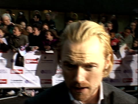pride of britain awards 2008: arrivals and interviews; ronan keating and wife yvonne arriving and ronan keating speaking to press sot - ronan keating stock videos & royalty-free footage