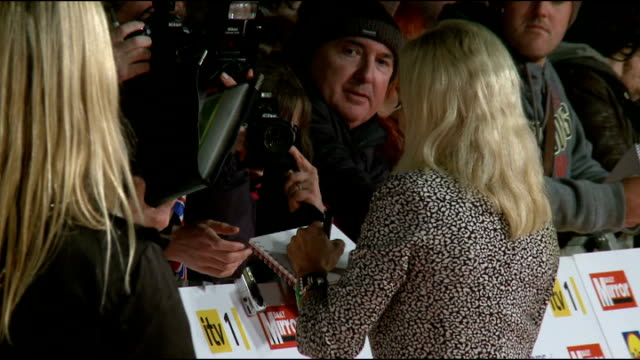 Red carpet arrivals ENGLAND London Grosvenor House Hotel PHOTOGRAPHY** Jane Torville signing autographs for fans and along / Max Clifford along